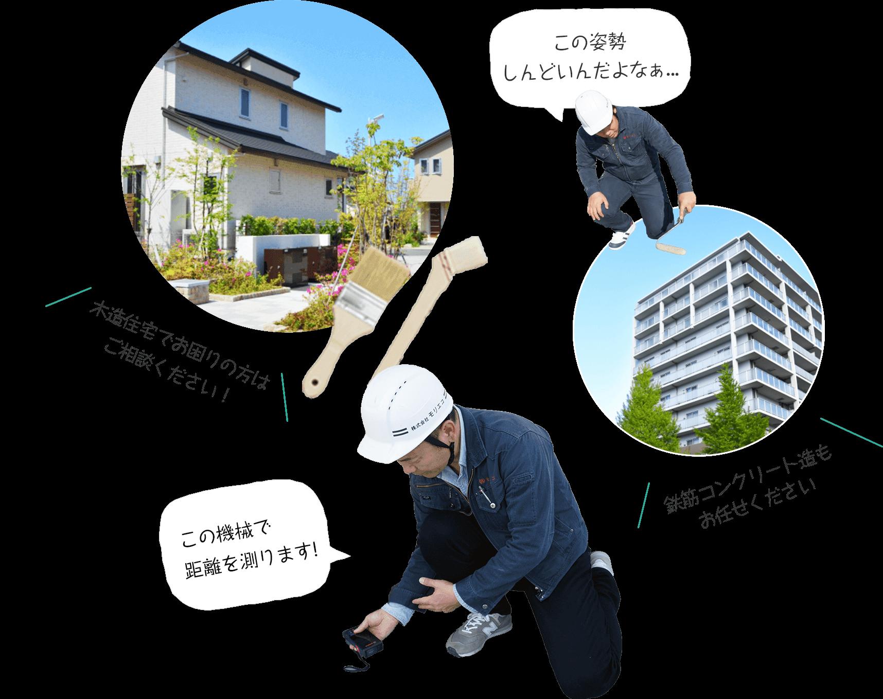 木造住宅でお困りの方はご相談ください!鉄筋コンクリート造もお任せください