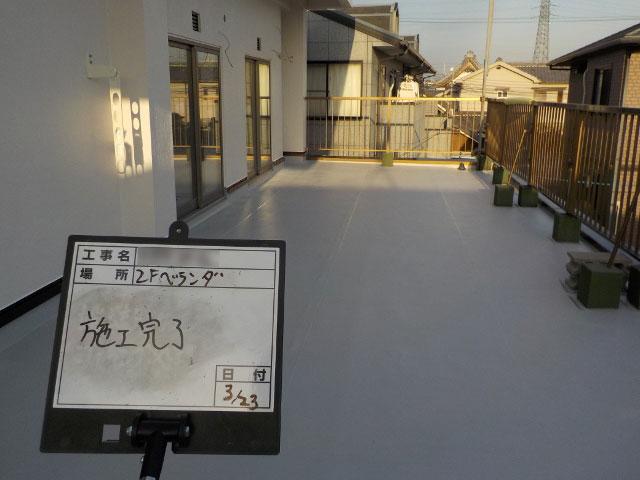 堺市 N様邸 塩ビシート防水改修工事の施工後