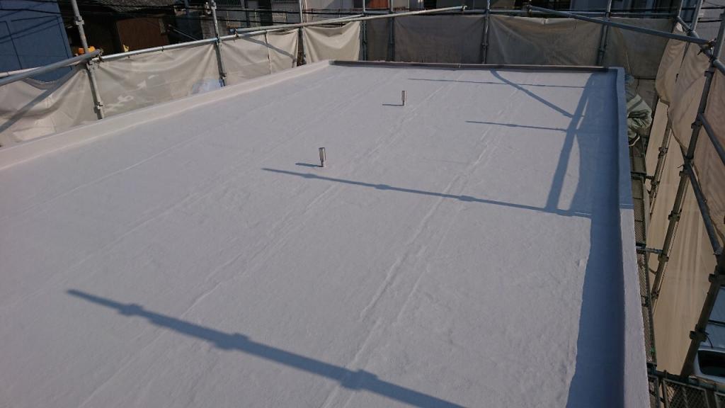 堺市M会館 複合塗膜防水・コーキング工事の施工後