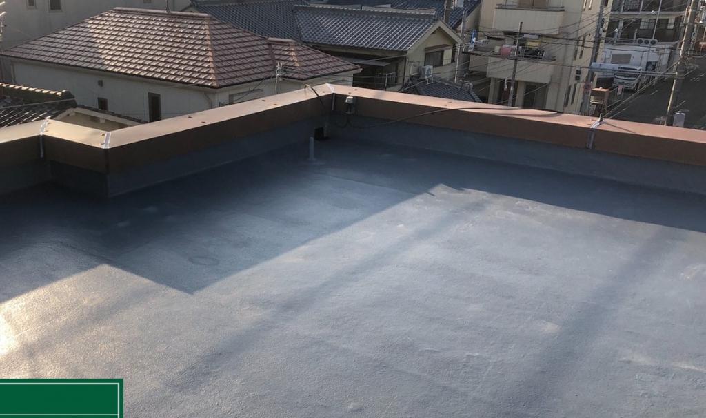 大阪市Sハイツ屋上トップコート塗替え工事の施工後